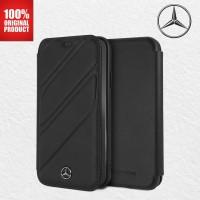 Casing New Organic Booktype Mercedes Benz iPhone X / XS - Black