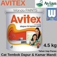 Cat Tembok Dapur & Kamar Mandi AVITEX Putih BW 4.5kg (Tahan Uap Panas)