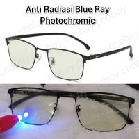 Kacamata Anti Radiasi Blue ray Photochromic Pria Wanita 9163