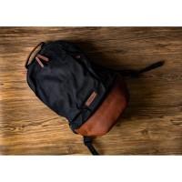 Tas Ransel Kanvas Kulit Pria COUNT Canvas Leather Backpack