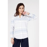 Kemeja Lengan Panjang / Cashel White Blue Shirt 24712L5WL - Logo Jeans