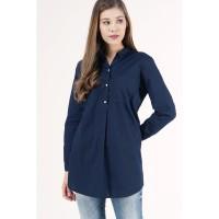 Kemeja Lengan Panjang / Taddeo Dark Navy Shirt 24722L5DI - Logo Jeans