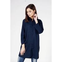 Tunik Wanita / Carven Navy Tunik Shirt 24709L5NA - Logo Jeans