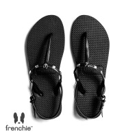 Sandal Wanita Frenchie Slipper Strappy Rockstud All Black SFR02