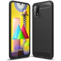 Armor Carbon TPU Case Samsung Galaxy M31 - Casing Black Soft Original