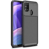 Carbon II TPU Case Samsung Galaxy M31 - Casing Black Soft Original