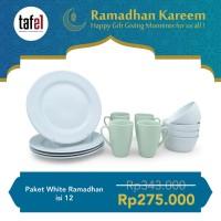 Piring Makan Set Ramadhan Putih Checkers 12