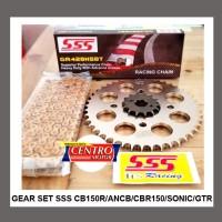 GEAR SET SSS 428 NEWCB150R,CB150R,CBR150R,SONIC,GTR150+RANTAI SSS tipe