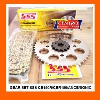 GEAR SET SSS 428 NEW CB150R,CBR150,SONIC150R,MEGA PRO,VERZA+Rantai SSS
