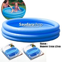 Intex 59416 Blue Pool 3 Ring / Kolam Renan Anak 3 Ring [114cmx25cm]