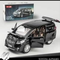 miniatur Diecast XLG 1/24 mobil Toyota Alphard Vellfire mainan anak