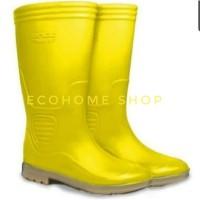 sepatu bot karet safety Ando Tinggi kuning boot APD Covid Hercules