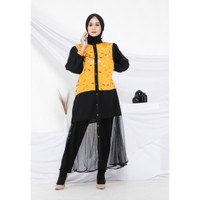 Hijab Ellysha SET WITH LEGGING 2IN1 FLAVIA TULLE RIBBON DRESS OUTER