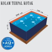 Kolam Terpal Kotak Dimensi 200 cm x 100 cm x 70 cm