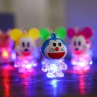 Gantungan Kunci Doraemon Lampu FREE BATERAI