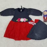 Baju Muslim Gamis Anak Bayi Perempuan Set Jilbab Instant Bolero Bunga