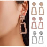 Anting Panjang Gantung A01 Korea Fashion Vintage Earrings Women Geomet