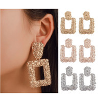 Anting Panjang Gantung Korea Fashion Vintage Earrings Women Geometric