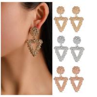 Anting Panjang Gantung TRIANGLE Korea Fashion Vintage Earrings Women G