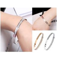 Gelang Wanita S12 Korea Fashion Women Titanium Alloy Bracelet Banle Ak