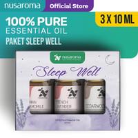 Nusaroma Sleep Well Kit Essential Oil - Paket isi 3 x 10ML