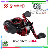 Baitcasting Fising Reel 8.1:1ig Speed Gear Ratio 18+1BB Spool Diskon