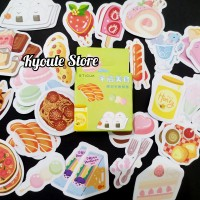 45 pcs Sticker Deco Fancy Food Scrapbook DIY Bujo Planner Diary Art