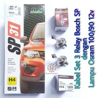 Kabel Relay Lampu Bosch 3 Relay dengan Lampu Osram H4 100/90 12v Asli