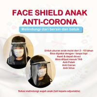 Pelindung Wajah Anak - Emikoawa Face Shield Visor Corona