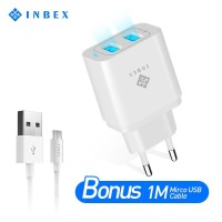 INBEX Dual USB Wall Charger and Mirco USB Smart Charger Fast Charging