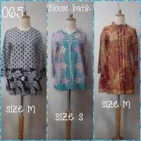 SALE Blouse batik original berbagaimacam motif (adem)suze s.m.L.xL