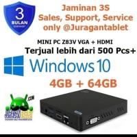 Mini PC Z85 4/64GB Intel X5 Z8350 4 Port USB Windows 10 with Bracket