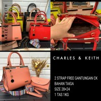 tas set pouch Charles keith mewah exclusive