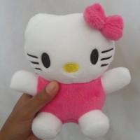 Boneka hello kitty kecil tinggi 15cm - Pink