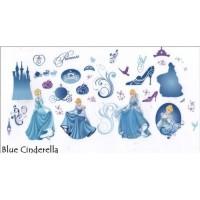 AS6938 BLUE PRINCESS wall sticker/ wallsticker 60x90