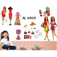 AL6905 BARBIE FASHION wall sticker/ wallsticker 60x90