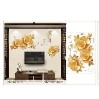 XC9011 GOLDEN FLOWER wall sticker/ wallsticker 60x90
