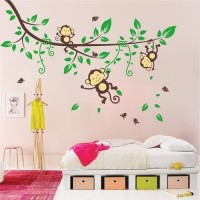 OM1205 BABY MONKEY wall sticker/ wallsticker 60x90
