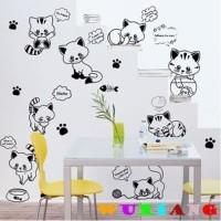 XC9018 CAT FUN wall sticker/ wallsticker 60x90