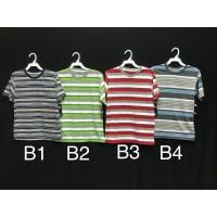 Kaus/Kaos Oblong Rumah Santai Adem/Tshirt Salur Anak Tanggung (B/B)