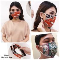 Masker Kain Batik 2 Lapis /Masker Non Medis