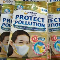Masker Unicharm Protect Pollution and Virus 3D isi 2 pcs *Masker Scuba