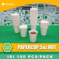 papercup 5oz paper cup 5oz 100pcs/pack tebal drink dan ice cream