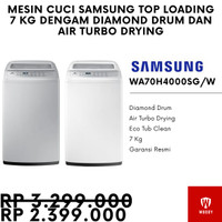 (Termurah) Mesin Cuci Samsung Top Loading 7 Kg WH70H4000SG Air Turbo - Putih