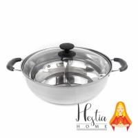 Panci Shabu / Suki 2 Sekat 30 cm Kuah Hotpot / Hot Pot