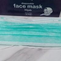 Ready Masker Hijab Face Mask isi 50 sheet kualitas Sensi 3 ply Murah