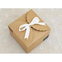 box brown 9x9 kotak gift box packaging kantong imlek / natal / lebaran