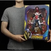Action Figure Avengers Iron Spiderman LED