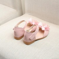 1-5Y Baby Shoes Girl Soft Pearl Floral Sandals Breathable Anti-slip Wa