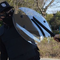 NFS Transparent PC Hand-held Shield Police SWAT Riot Shield For